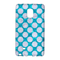 Circles2 White Marble & Turquoise Marble Galaxy Note Edge by trendistuff