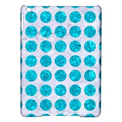 Circles1 White Marble & Turquoise Marble (r) Ipad Air Hardshell Cases by trendistuff