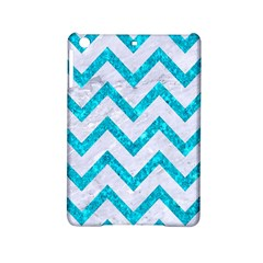 Chevron9 White Marble & Turquoise Marble (r) Ipad Mini 2 Hardshell Cases by trendistuff