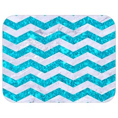 Chevron3 White Marble & Turquoise Marble Full Print Lunch Bag by trendistuff