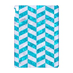 Chevron1 White Marble & Turquoise Marble Apple Ipad Pro 10 5   Hardshell Case by trendistuff
