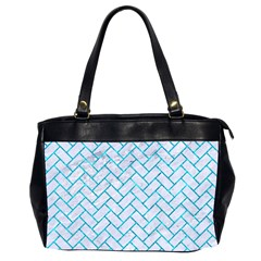 Brick2 White Marble & Turquoise Marble (r) Office Handbags (2 Sides)  by trendistuff