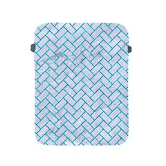 Brick2 White Marble & Turquoise Marble (r) Apple Ipad 2/3/4 Protective Soft Cases by trendistuff