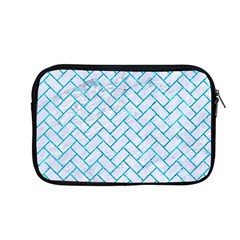 Brick2 White Marble & Turquoise Marble (r) Apple Macbook Pro 13  Zipper Case by trendistuff