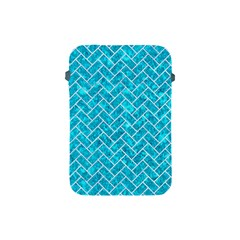 Brick2 White Marble & Turquoise Marble Apple Ipad Mini Protective Soft Cases by trendistuff