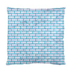 Brick1 White Marble & Turquoise Marble (r) Standard Cushion Case (two Sides) by trendistuff