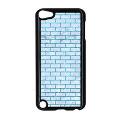 Brick1 White Marble & Turquoise Marble (r) Apple Ipod Touch 5 Case (black) by trendistuff