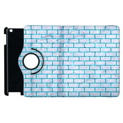 Brick1 White Marble & Turquoise Marble (r) Apple Ipad 2 Flip 360 Case by trendistuff