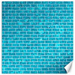 Brick1 White Marble & Turquoise Marble Canvas 20  X 20   by trendistuff