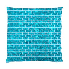 Brick1 White Marble & Turquoise Marble Standard Cushion Case (one Side) by trendistuff