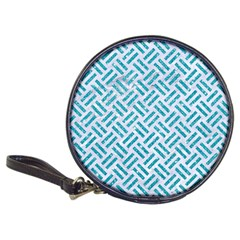 Woven2 White Marble & Turquoise Glitter (r) Classic 20 Cd Wallets by trendistuff