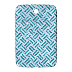 Woven2 White Marble & Turquoise Glitter (r) Samsung Galaxy Note 8 0 N5100 Hardshell Case  by trendistuff