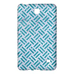 Woven2 White Marble & Turquoise Glitter (r) Samsung Galaxy Tab 4 (7 ) Hardshell Case  by trendistuff
