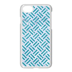 Woven2 White Marble & Turquoise Glitter (r) Apple Iphone 7 Seamless Case (white) by trendistuff