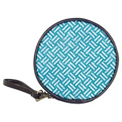 Woven2 White Marble & Turquoise Glitter Classic 20 Cd Wallets by trendistuff