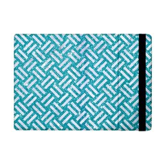 Woven2 White Marble & Turquoise Glitter Ipad Mini 2 Flip Cases by trendistuff
