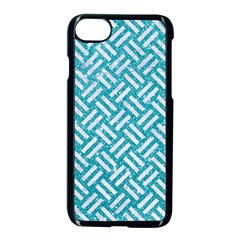 Woven2 White Marble & Turquoise Glitter Apple Iphone 7 Seamless Case (black) by trendistuff
