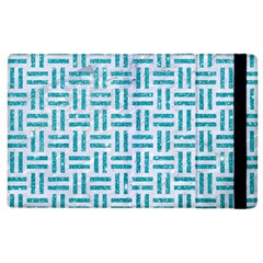 Woven1 White Marble & Turquoise Glitter (r) Apple Ipad 2 Flip Case by trendistuff