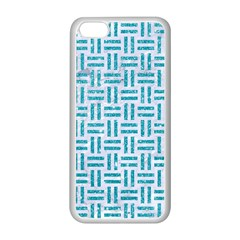 Woven1 White Marble & Turquoise Glitter (r) Apple Iphone 5c Seamless Case (white) by trendistuff