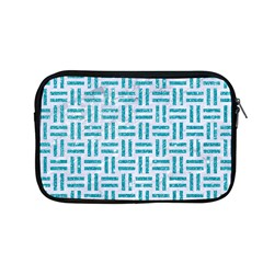 Woven1 White Marble & Turquoise Glitter (r) Apple Macbook Pro 13  Zipper Case by trendistuff