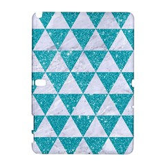 Triangle3 White Marble & Turquoise Glitter Galaxy Note 1 by trendistuff