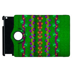 Roses Climbing To The Sun With Grace And Honor Apple Ipad 2 Flip 360 Case by pepitasart