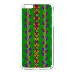 Roses Climbing To The Sun With Grace And Honor Apple Iphone 6 Plus/6s Plus Enamel White Case by pepitasart