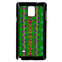 Roses Climbing To The Sun With Grace And Honor Samsung Galaxy Note 4 Case (black) by pepitasart