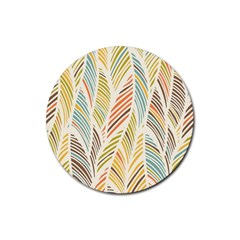 Decorative  Seamless Pattern Rubber Round Coaster (4 Pack)  by TastefulDesigns