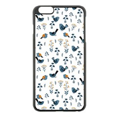 Spring Flowers And Birds Pattern Apple Iphone 6 Plus/6s Plus Black Enamel Case by TastefulDesigns