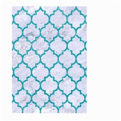 Tile1 White Marble & Turquoise Glitter (r) Large Garden Flag (two Sides) by trendistuff