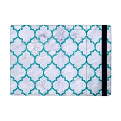 Tile1 White Marble & Turquoise Glitter (r) Ipad Mini 2 Flip Cases by trendistuff