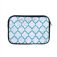 Tile1 White Marble & Turquoise Glitter (r) Apple Macbook Pro 15  Zipper Case by trendistuff