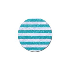 Stripes2white Marble & Turquoise Glitter Golf Ball Marker (10 Pack) by trendistuff