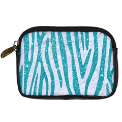 Skin4 White Marble & Turquoise Glitter Digital Camera Cases by trendistuff