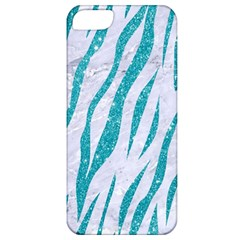 Skin3 White Marble & Turquoise Glitter (r) Apple Iphone 5 Classic Hardshell Case by trendistuff