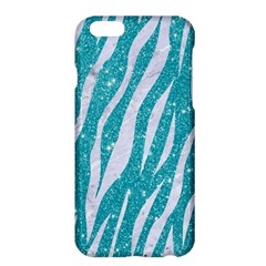 Skin3 White Marble & Turquoise Glitter Apple Iphone 6 Plus/6s Plus Hardshell Case by trendistuff