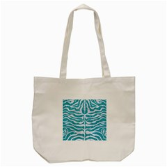 Skin2 White Marble & Turquoise Glitter Tote Bag (cream) by trendistuff