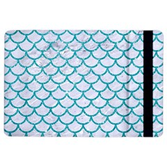 Scales1 White Marble & Turquoise Glitter (r) Ipad Air 2 Flip by trendistuff