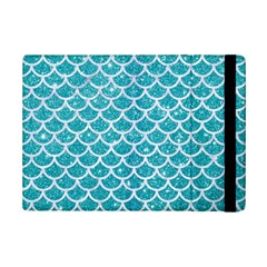 Scales1 White Marble & Turquoise Glitter Ipad Mini 2 Flip Cases by trendistuff