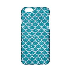 Scales1 White Marble & Turquoise Glitter Apple Iphone 6/6s Hardshell Case by trendistuff