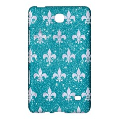 Royal1 White Marble & Turquoise Glitter (r) Samsung Galaxy Tab 4 (8 ) Hardshell Case