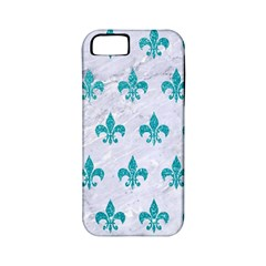 Royal1 White Marble & Turquoise Glitter Apple Iphone 5 Classic Hardshell Case (pc+silicone) by trendistuff