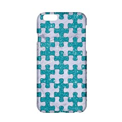 Puzzle1 White Marble & Turquoise Glitter Apple Iphone 6/6s Hardshell Case by trendistuff