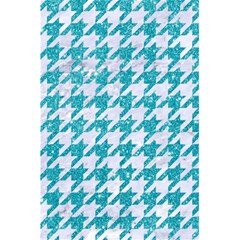 Houndstooth1 White Marble & Turquoise Glitter 5 5  X 8 5  Notebooks by trendistuff