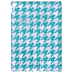Houndstooth1 White Marble & Turquoise Glitter Apple Ipad Pro 12 9   Hardshell Case by trendistuff