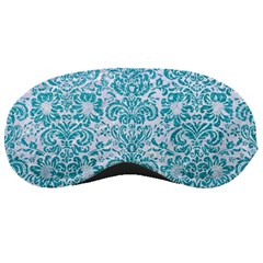 Damask2 White Marble & Turquoise Glitter (r) Sleeping Masks by trendistuff