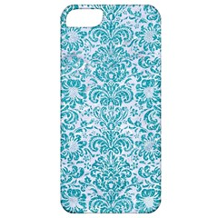 Damask2 White Marble & Turquoise Glitter (r) Apple Iphone 5 Classic Hardshell Case by trendistuff
