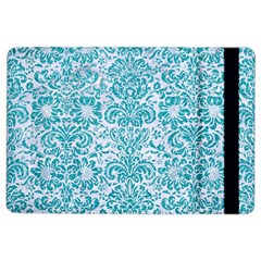 Damask2 White Marble & Turquoise Glitter (r) Ipad Air 2 Flip by trendistuff