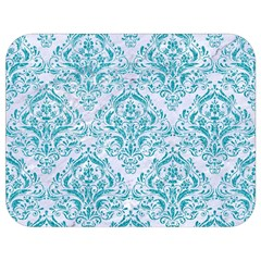 Damask1 White Marble & Turquoise Glitter (r) Full Print Lunch Bag by trendistuff